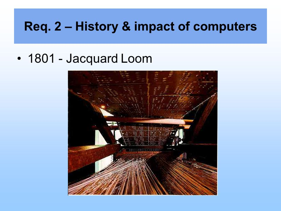 Req. 2 – History & impact of computers