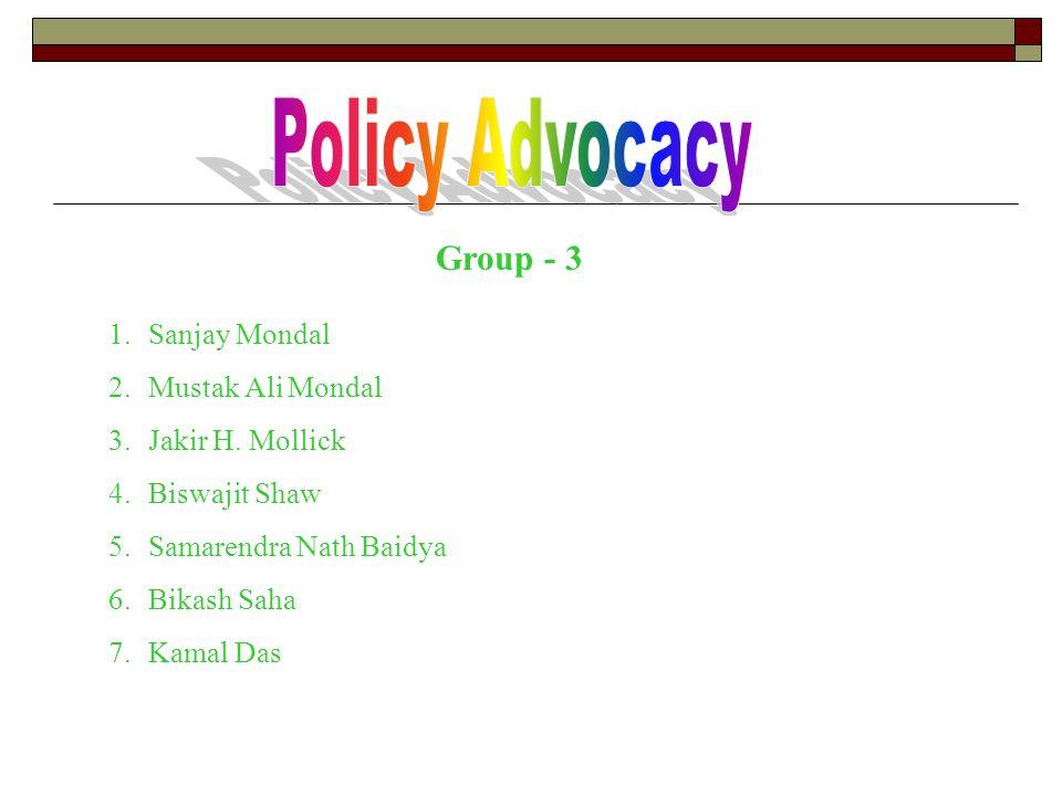 Group - 3 1.Sanjay Mondal 2.Mustak Ali Mondal 3.Jakir H.