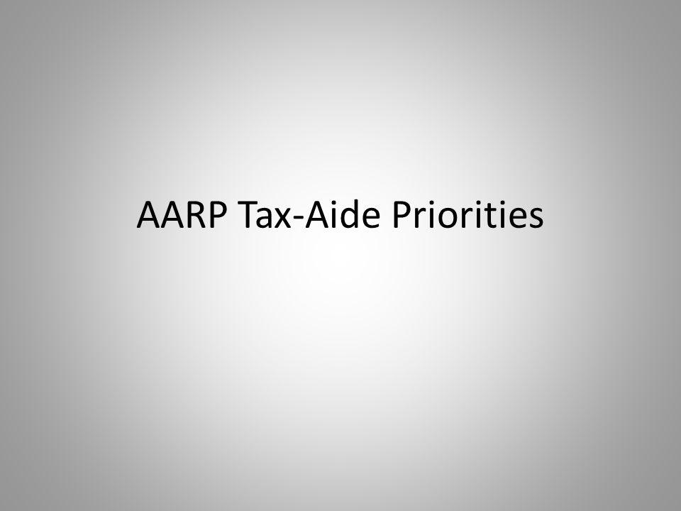 AARP Tax-Aide Priorities