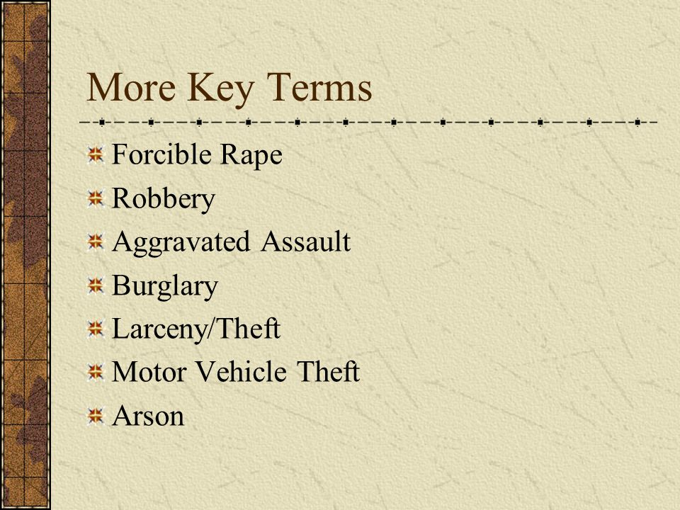 Forcible Rape Part I category that involves the carnal knowledge of a female against her will.