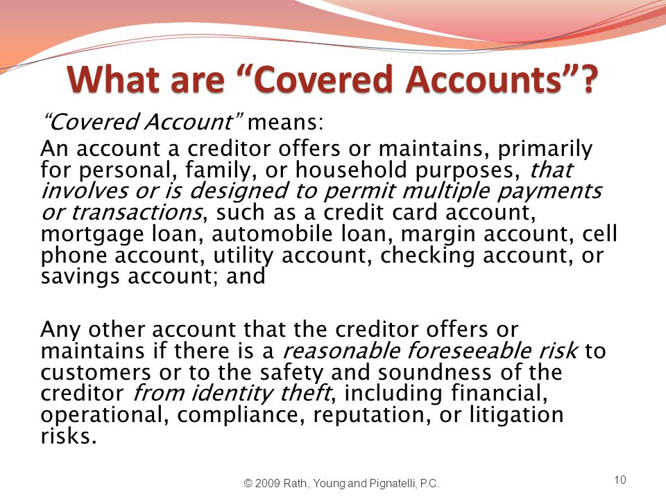 What are Covered Accounts .