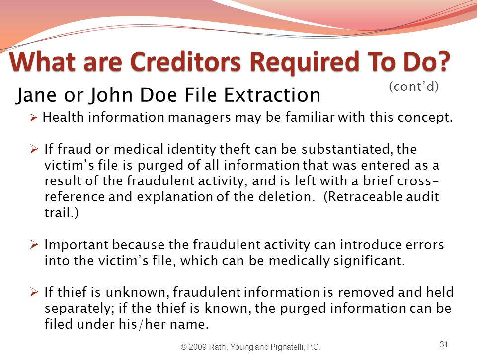 What are Creditors Required To Do. What are Creditors Required To Do.
