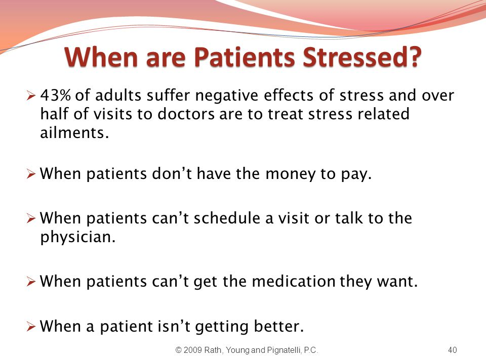 When are Patients Stressed.