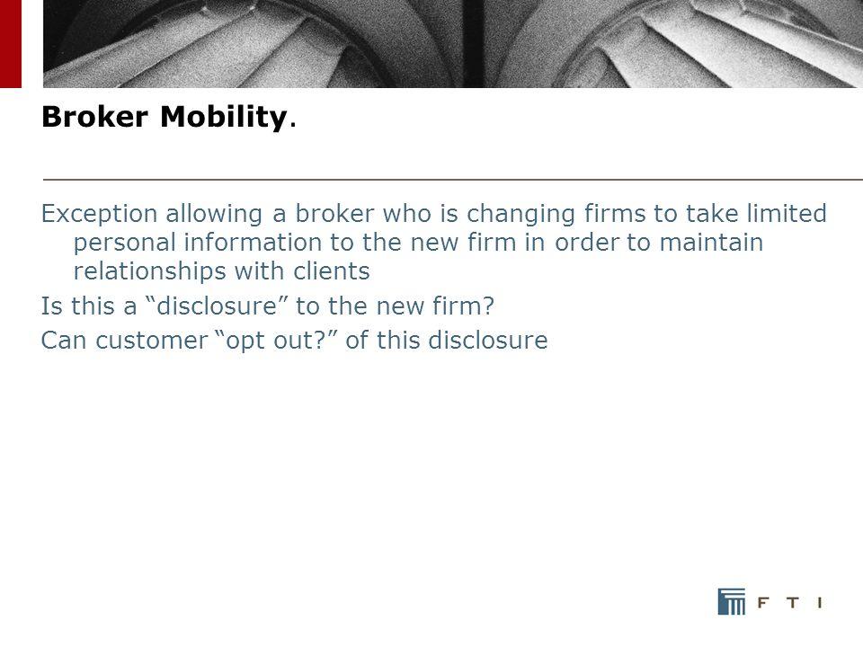 Broker Mobility.