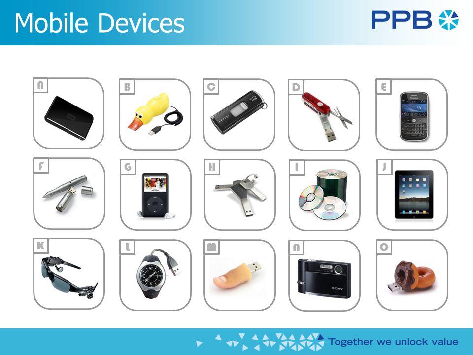 Mobile Devices A E G I C MO N B F HJ K L D