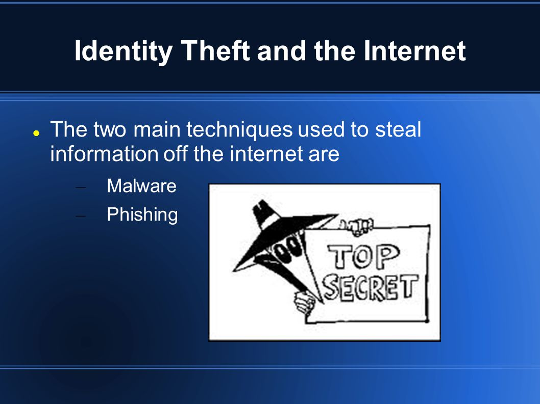 Malware Thieves can steal user information using key loggers.