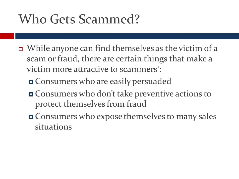 Who Gets Scammed.