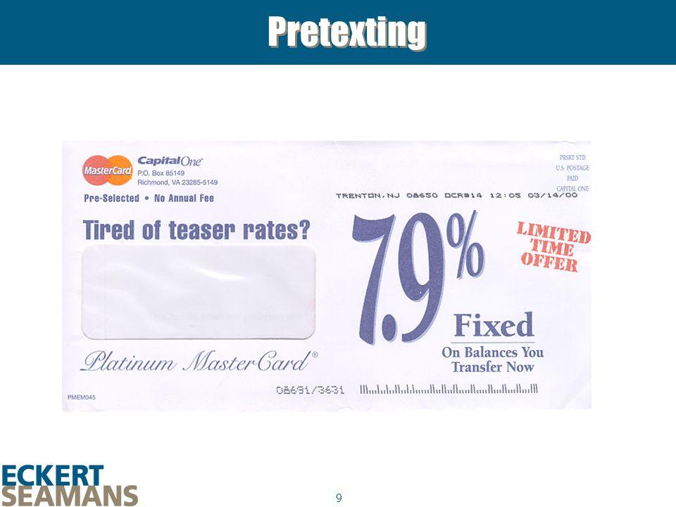 9 Pretexting