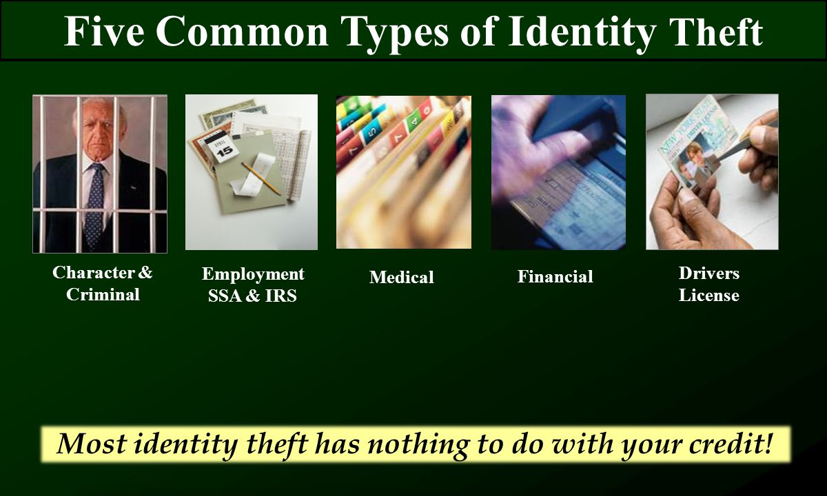 About 60 seconds to find out that you are a victim of identity theft It takes… An average of 600 hours to restore your identity