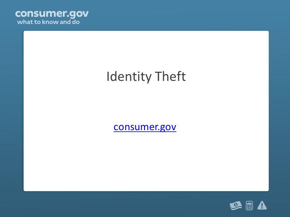 Identity Theft consumer.gov