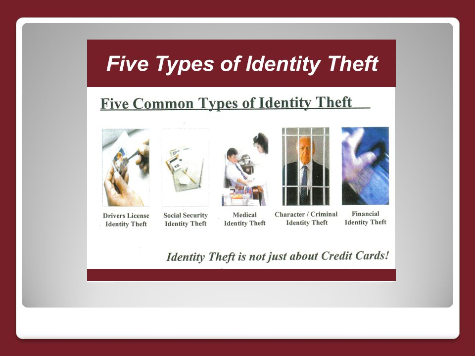 Five Types of Identity Theft