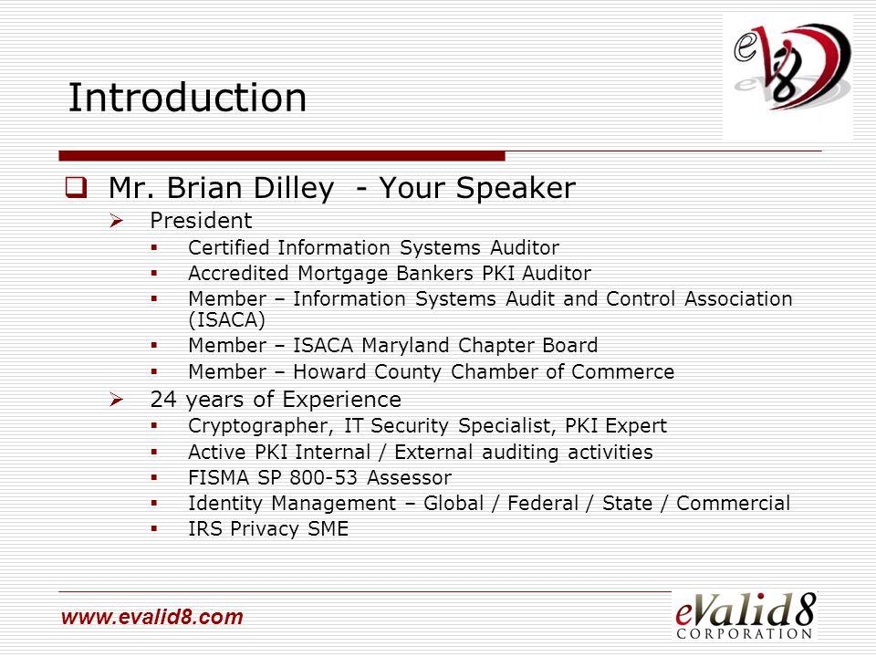 www.evalid8.com Introduction  Mr.