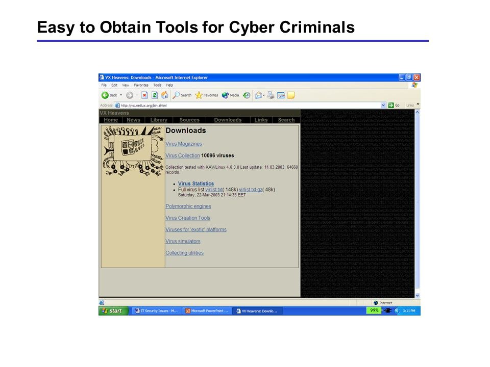 Profile of a Computer Criminal Other Sources:Information Technology for Management, thinkquest.org & nsca.com Business Week 2/21/2000 Thousands and th