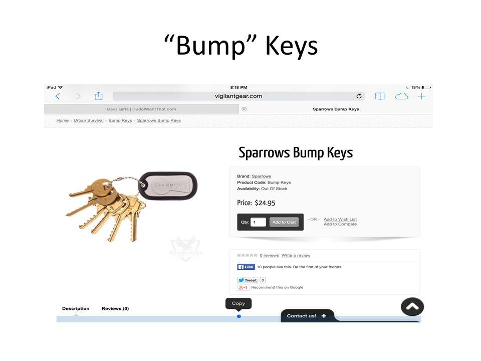 """""""Bump"""" Keys"""