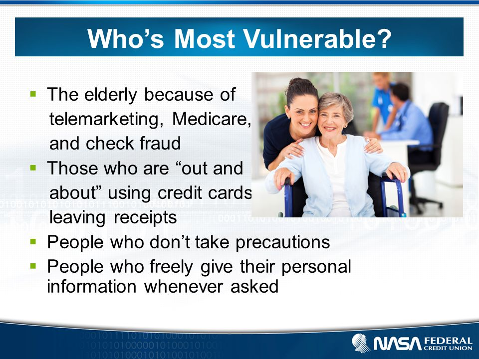 Who's Most Vulnerable.