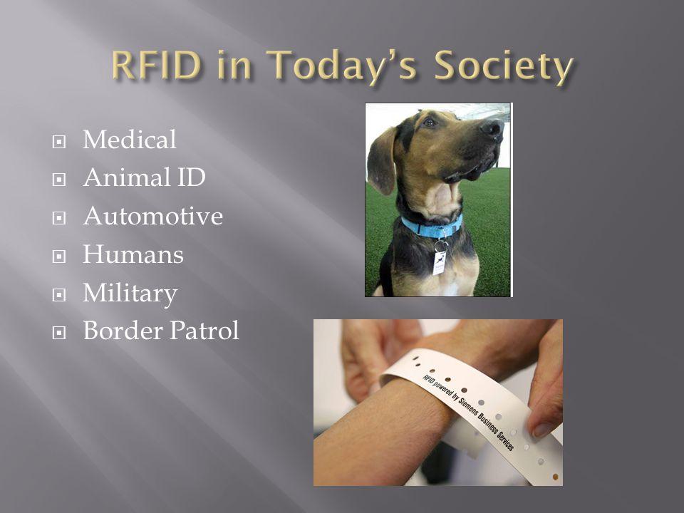  Medical  Animal ID  Automotive  Humans  Military  Border Patrol