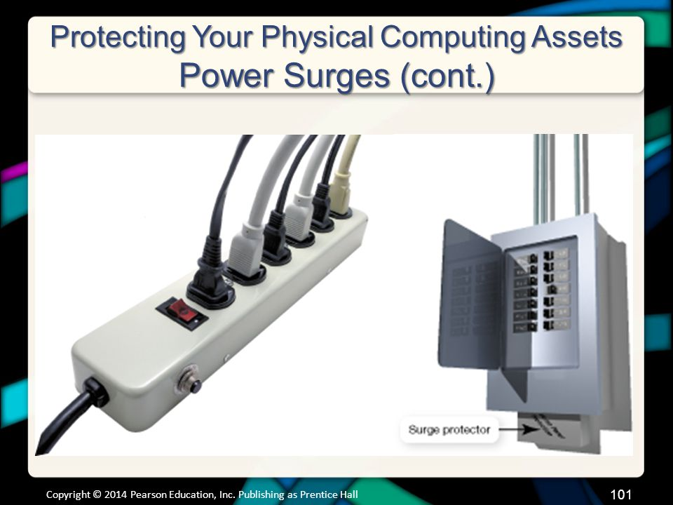 Protecting Your Physical Computing Assets Power Surges (cont.) Copyright © 2014 Pearson Education, Inc.
