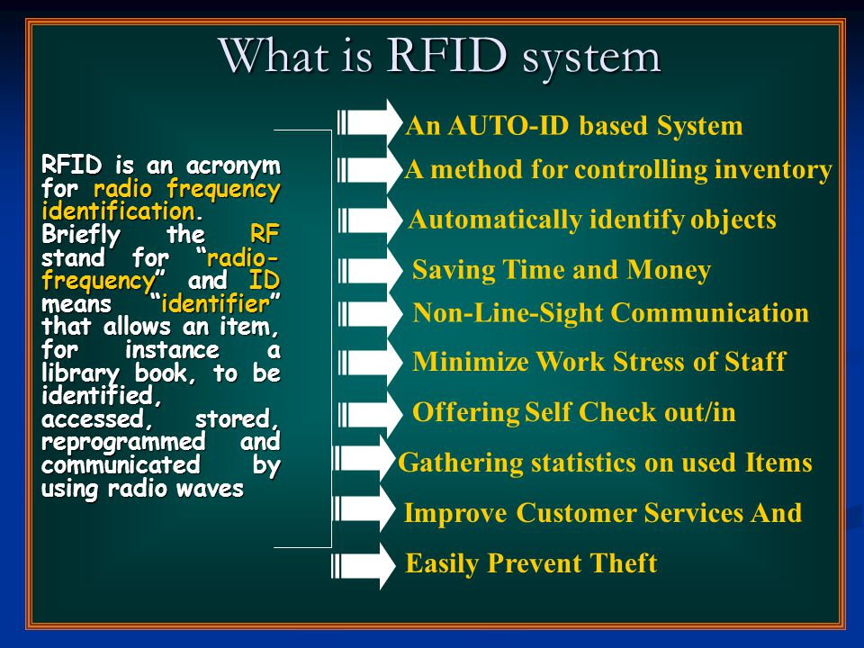 RFID Architecture RFID Architecture Tags Reader Gatewa y Database Application User Interface Backend Fig.1.