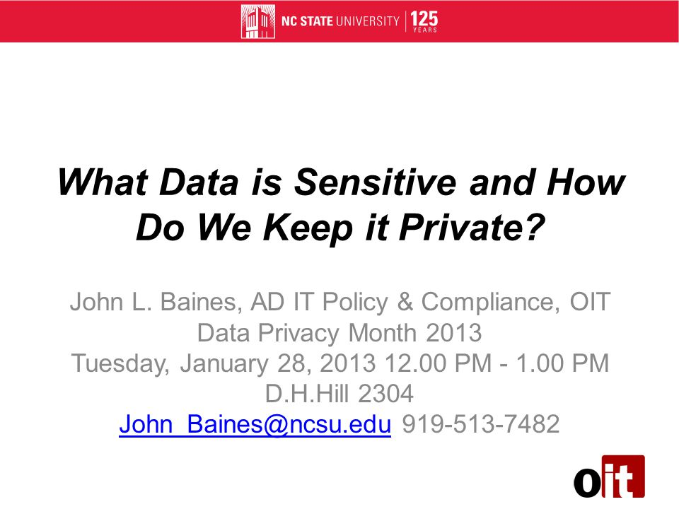 What Data is Sensitive and How Do We Keep it Private.