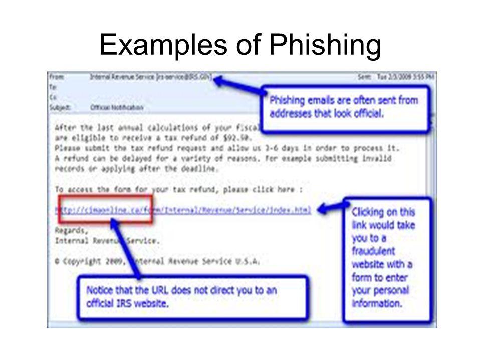 Examples of Phishing