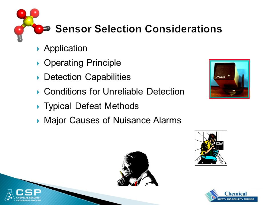  Application  Operating Principle  Detection Capabilities  Conditions for Unreliable Detection  Typical Defeat Methods  Major Causes of Nuisance Alarms