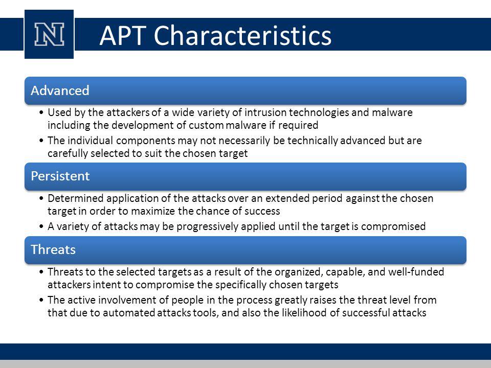 APT Characteristics