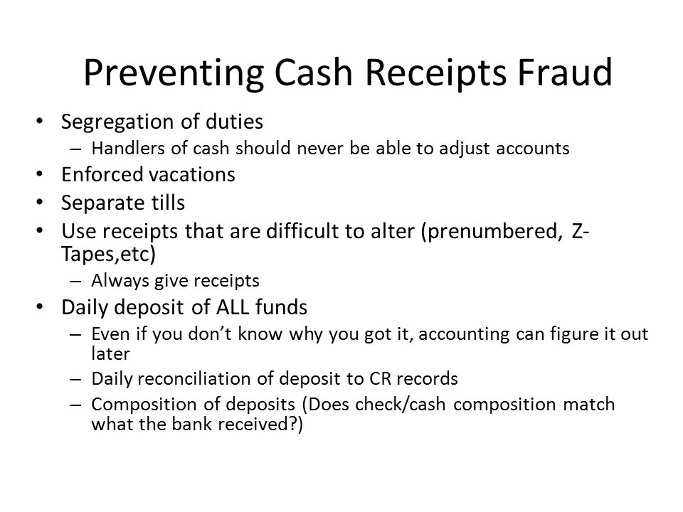 Asset Misappropriation Frauds Are you getting the benefit of all your purchases.