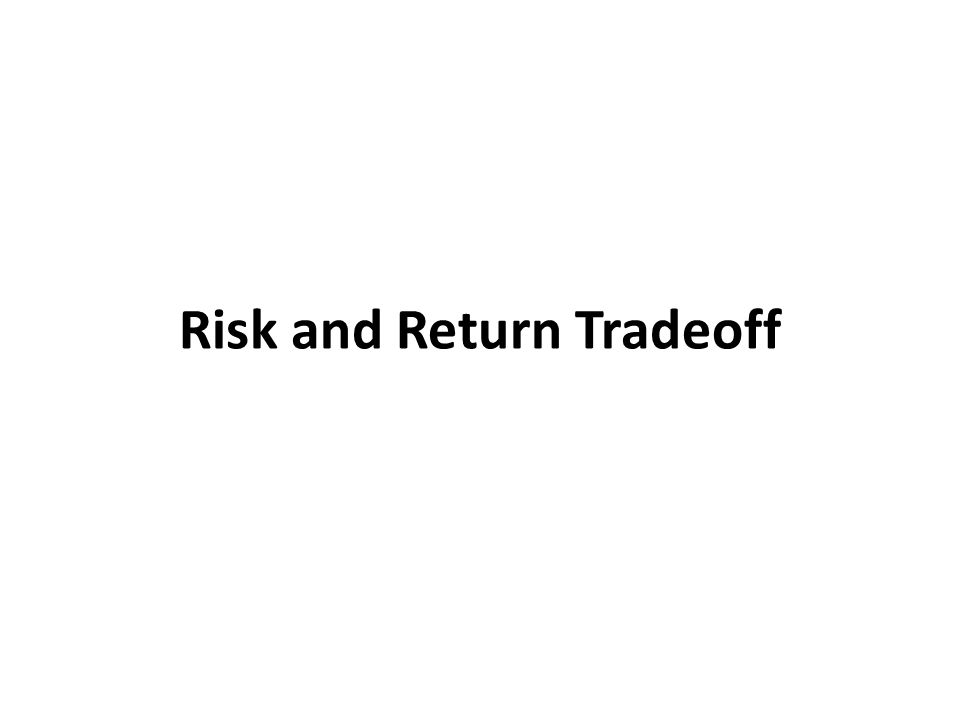 Risk and Return Tradeoff