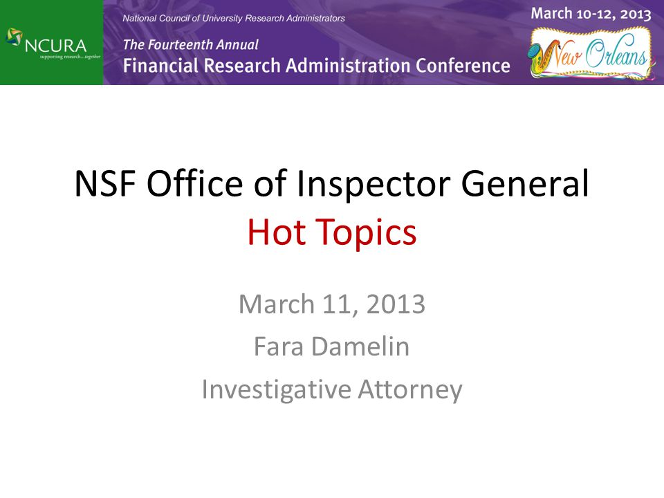 What is an Office of Inspector General.