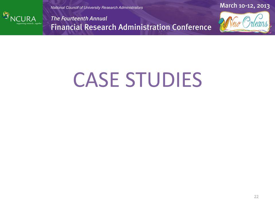 CASE STUDIES 22