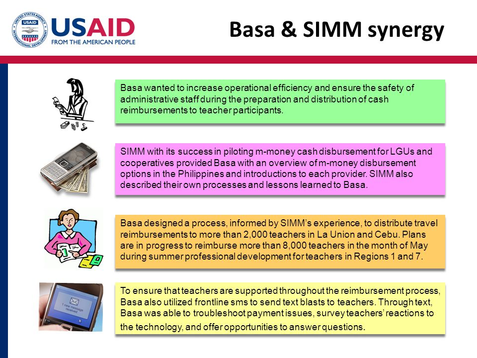 Basa & SIMM synergy Basa wanted to increase operational efficiency and ensure the safety of administrative staff during the preparation and distributi