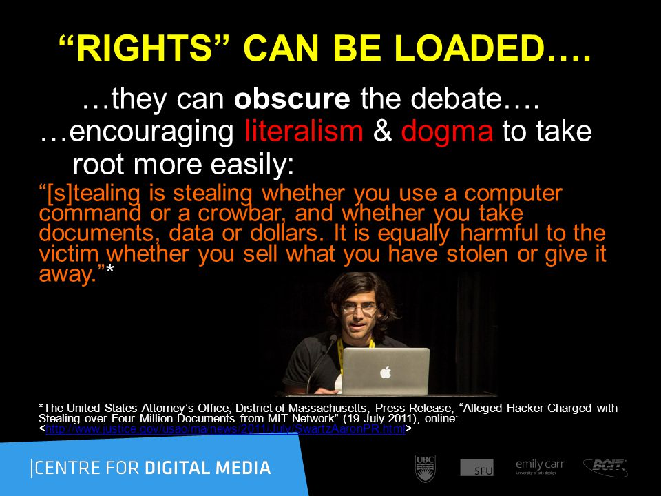 RIGHTS CAN BE LOADED…. …they can obscure the debate….