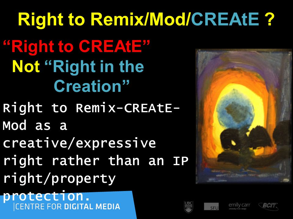 Right to Remix/Mod/CREAtE .