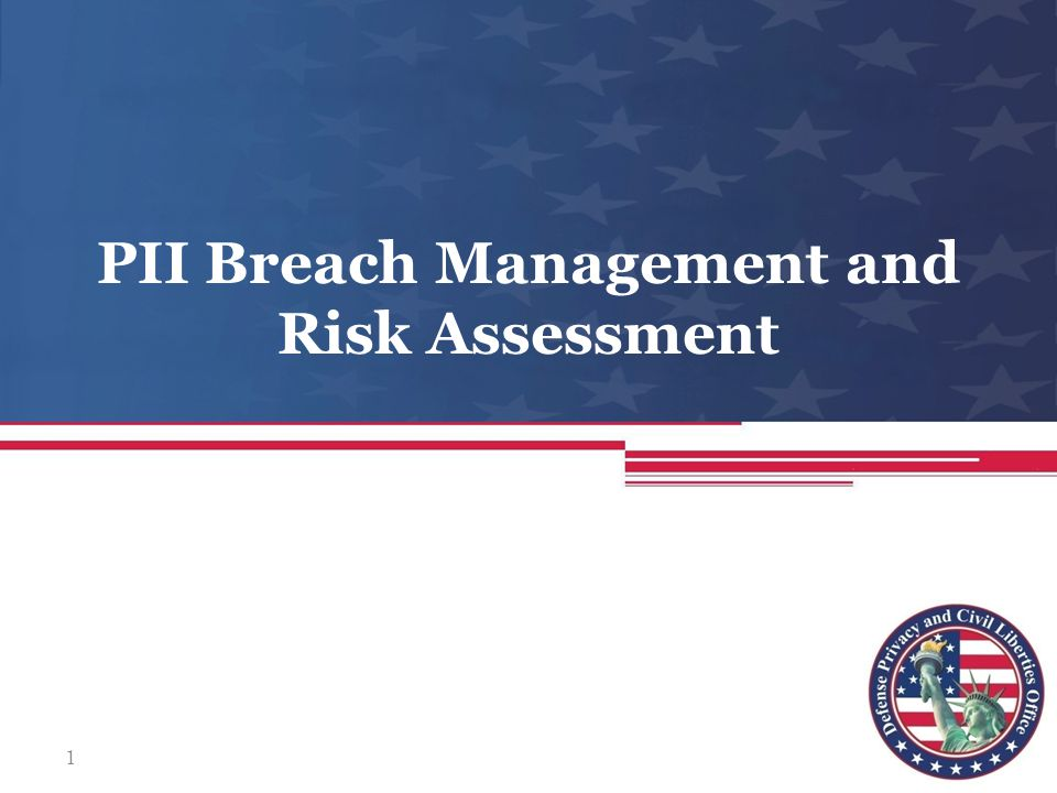 PII Breach Management and Risk Assessment 1