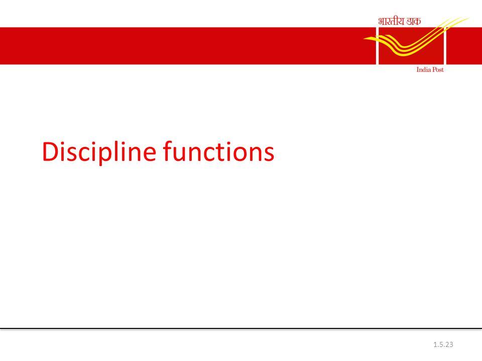 Discipline functions 1.5.23