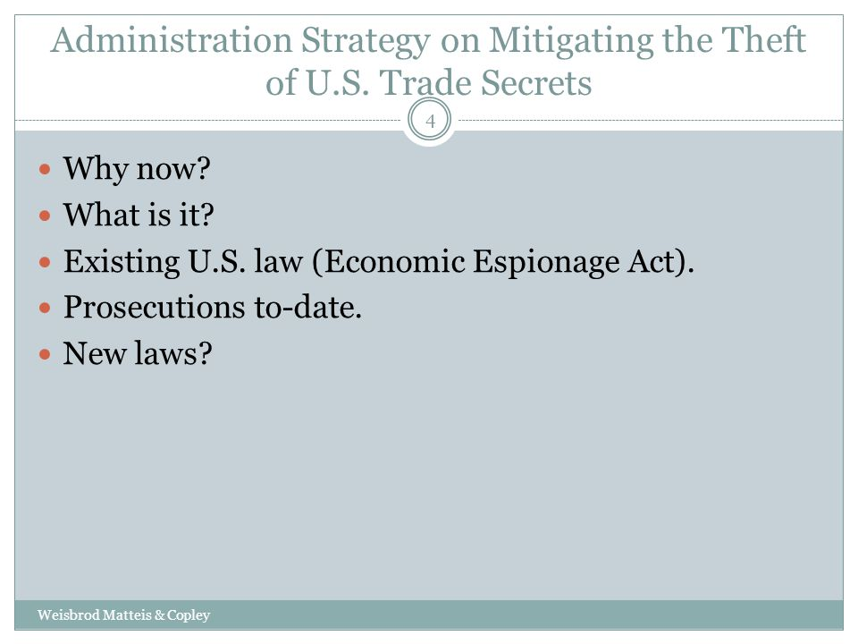 Administration Strategy on Mitigating the Theft of U.S.