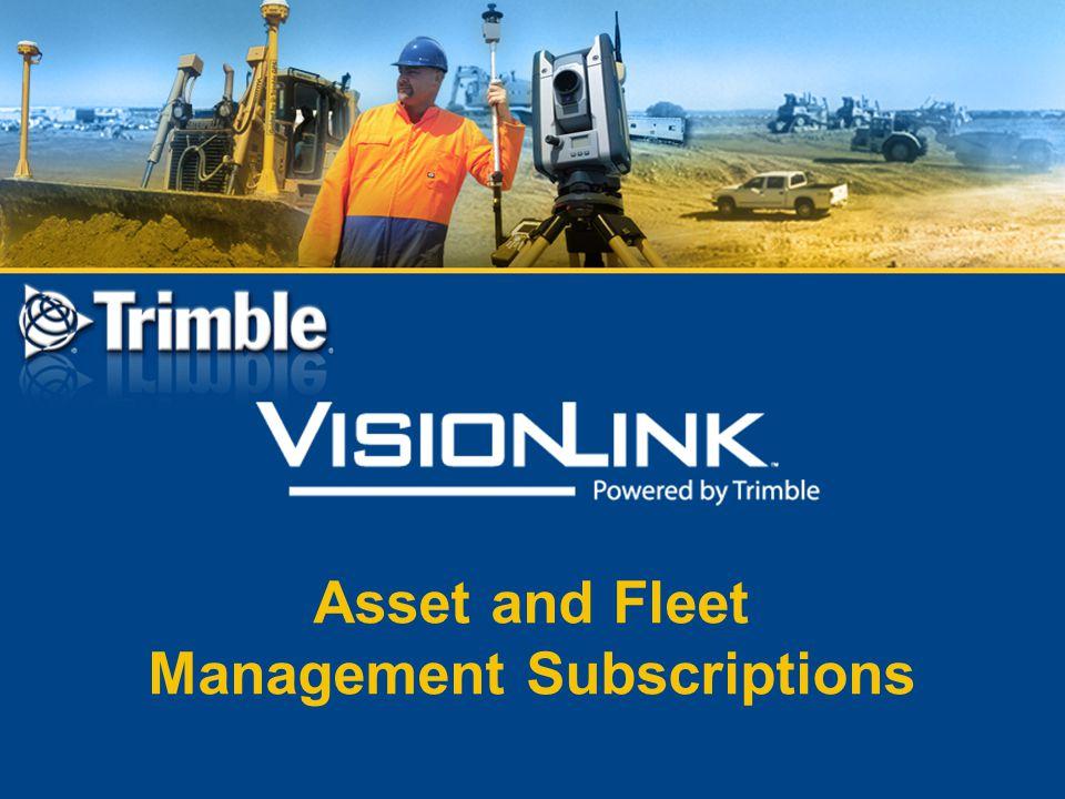 Asset and Fleet Management Subscriptions