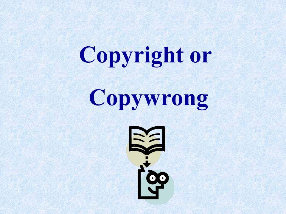 Copyright or Copywrong