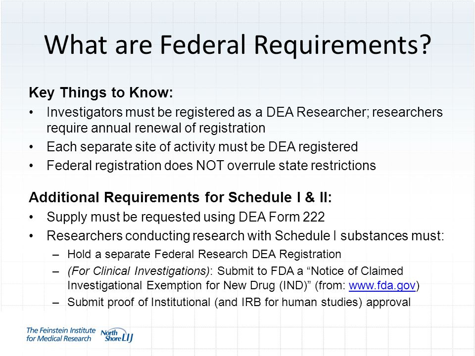 What are Federal Requirements.