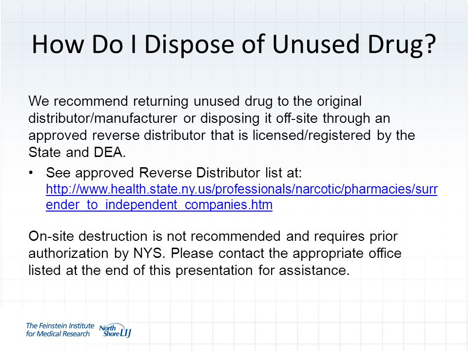 How Do I Dispose of Unused Drug.