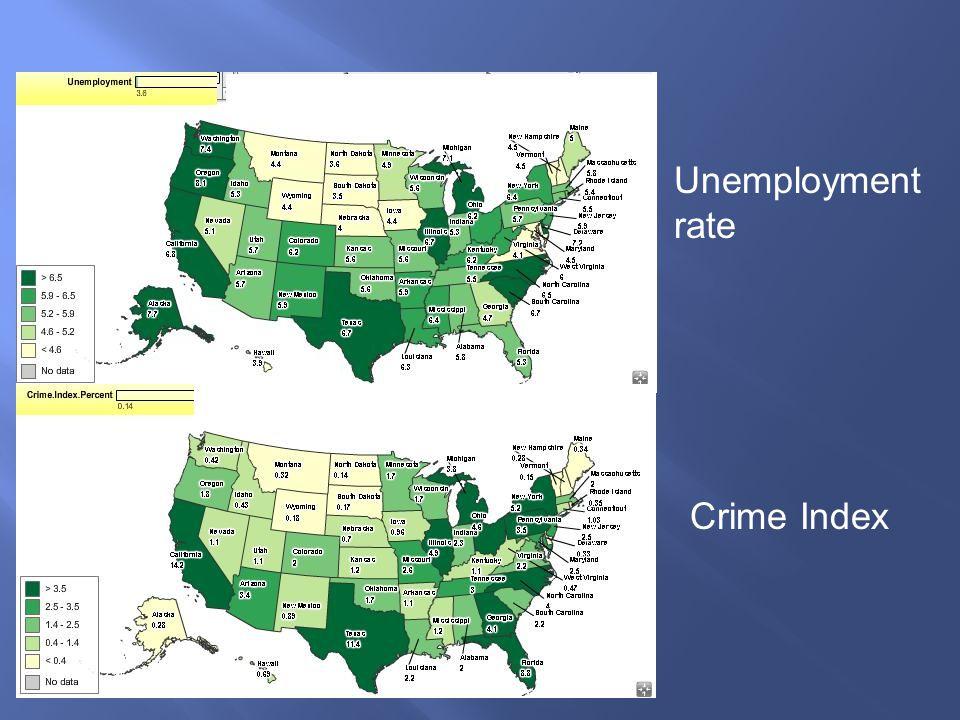 Unemployment rate Crime Index