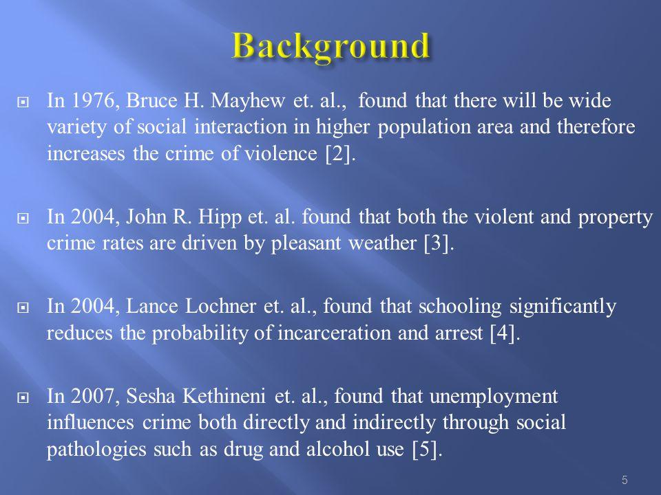  In 1976, Bruce H. Mayhew et.