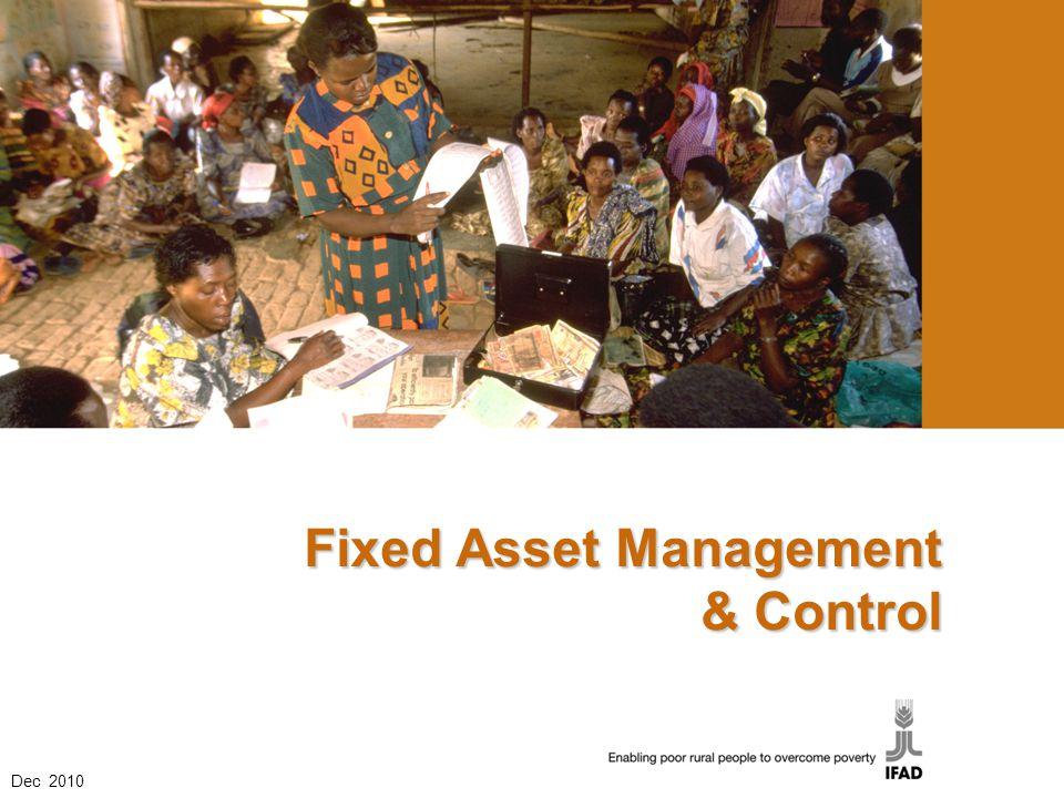 Fixed Asset Management & Control Dec 2010