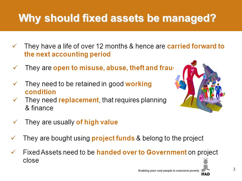Why should fixed assets be managed.