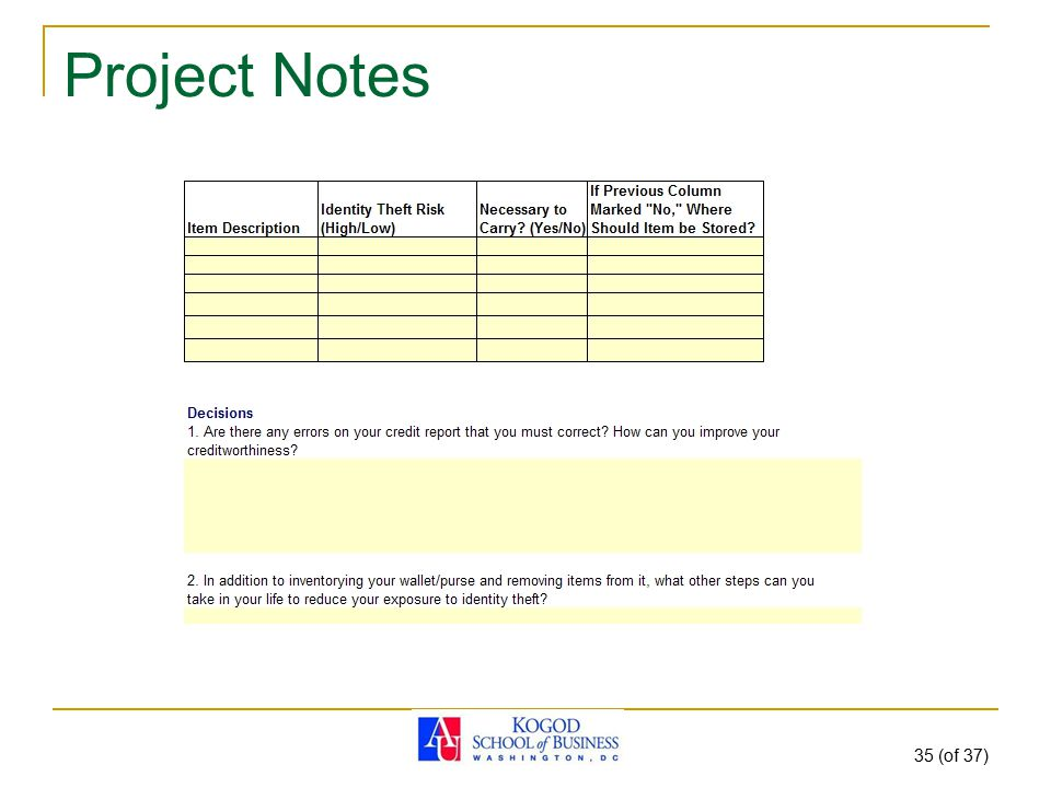 Project Notes 35 (of 37)