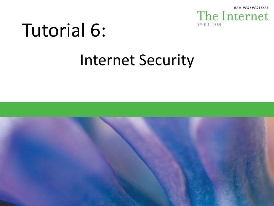 Tutorial 6: Internet Security