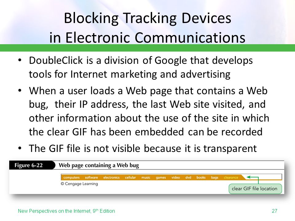 Blocking Tracking Devices in Electronic Communications DoubleClick is a division of Google that develops tools for Internet marketing and advertising
