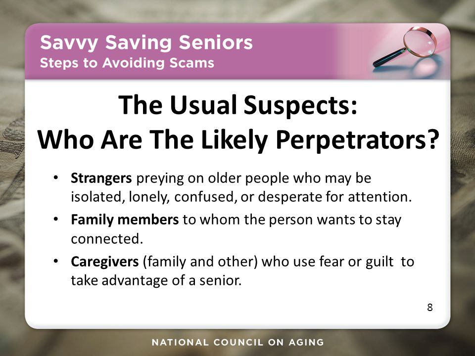 The Usual Suspects: Who Are The Likely Perpetrators.
