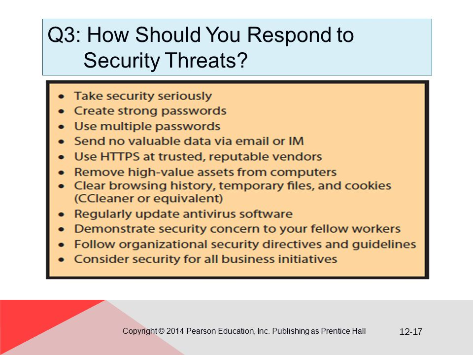 12-17 Q3: How Should You Respond to Security Threats.