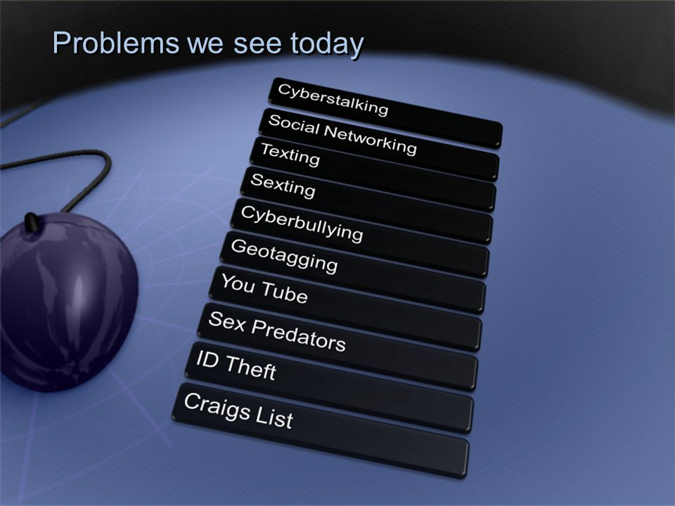 Problems we see today
